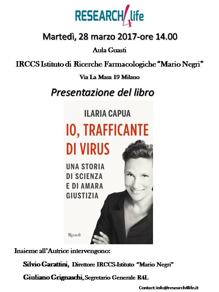 'Io, trafficante di virus': presentazione del libro di Ilaria Capua