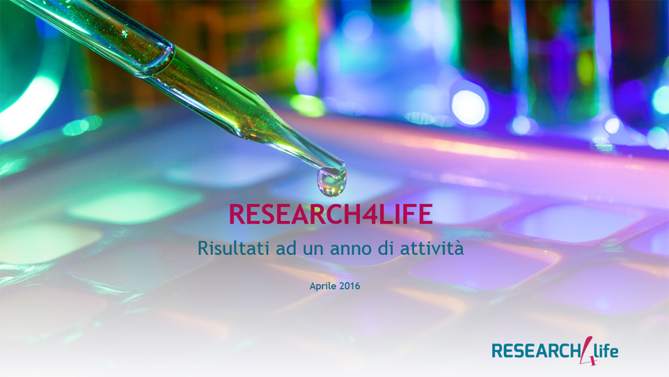 I numeri del sito www.research4life.it