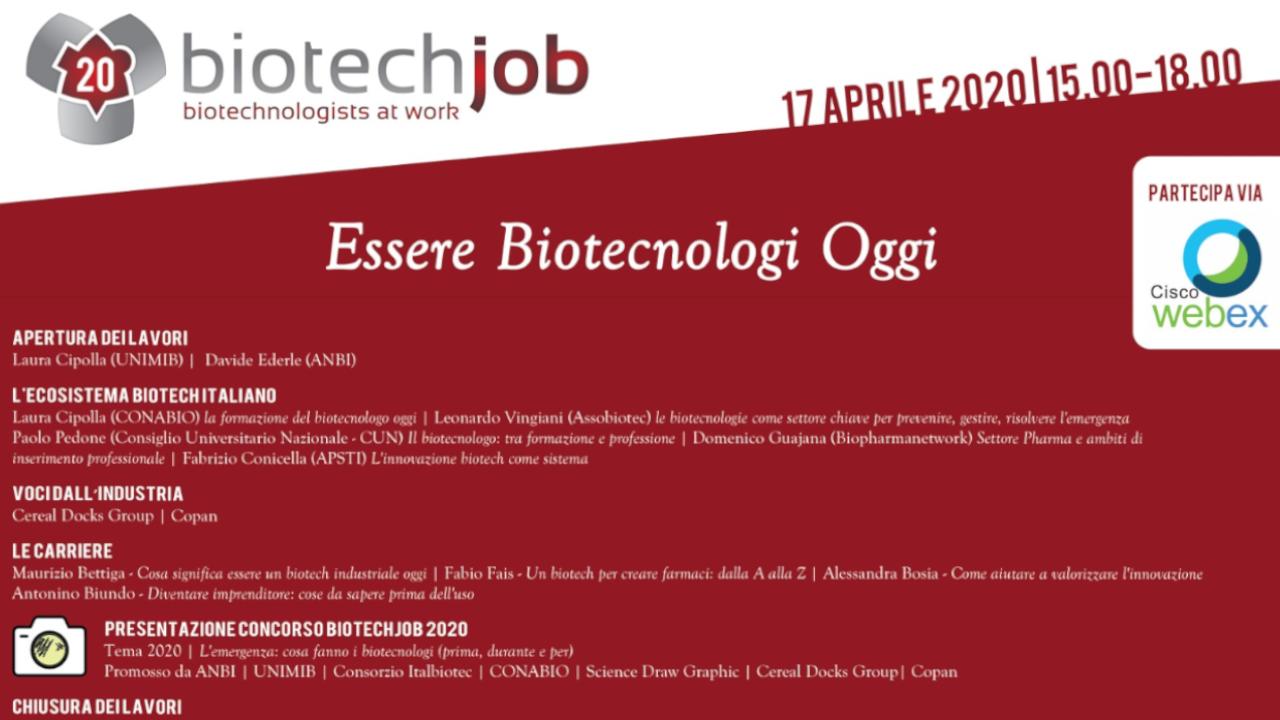 BiotechJob: Essere Biotecnologi oggi