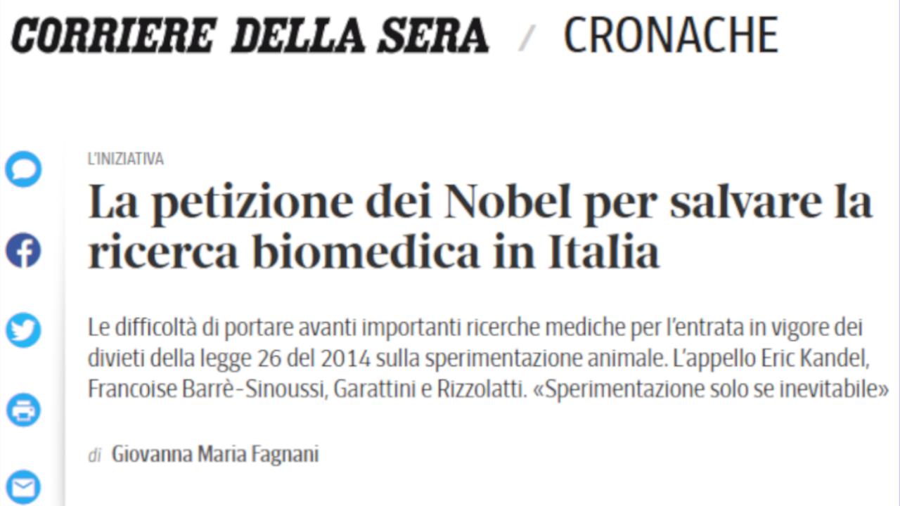 La petizione dei Nobel per salvare la ricerca biomedica in Italia