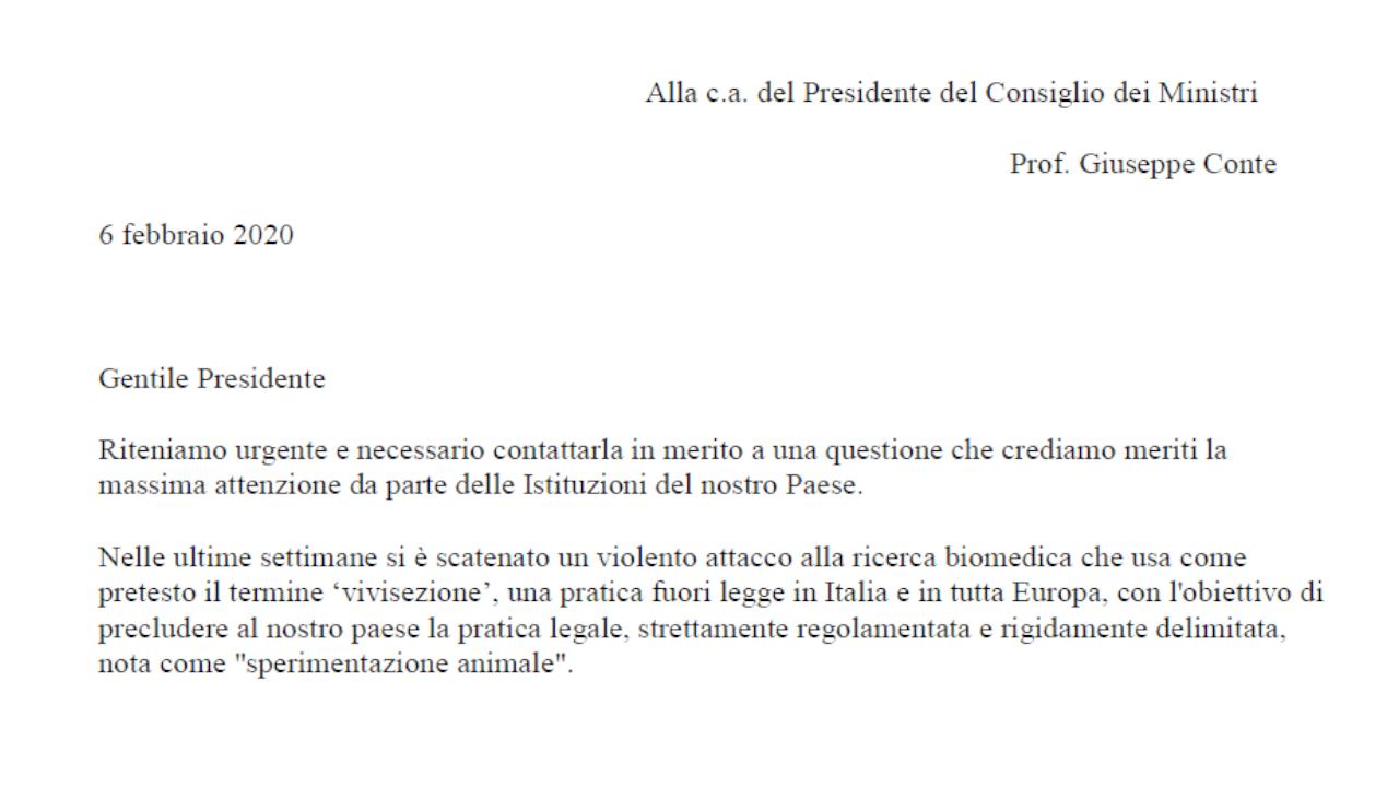 Appello della ricerca Italiana al Presidente del Consiglio dei Ministri (1)