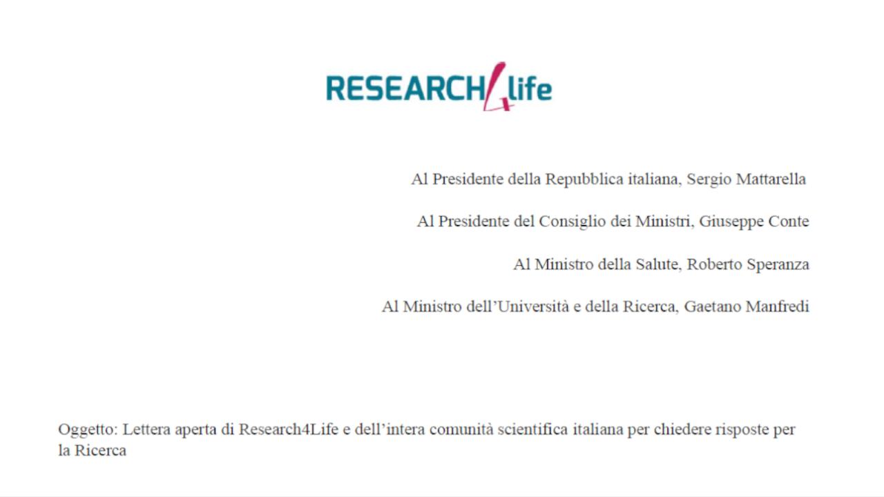 Research4Life e la comunità scientifica scrivono una lettera aperta alle massime cariche della Repubblica per avere risposte