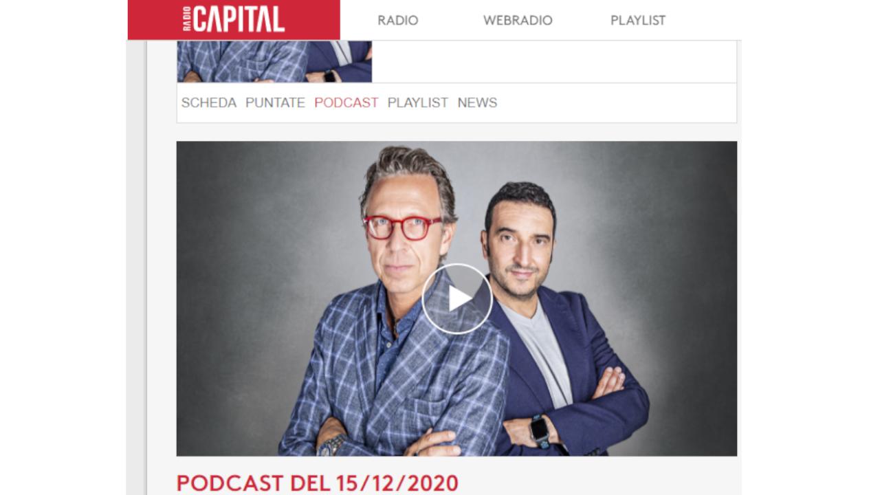 Giuliano Grignaschi ai microfoni di Radio Capital