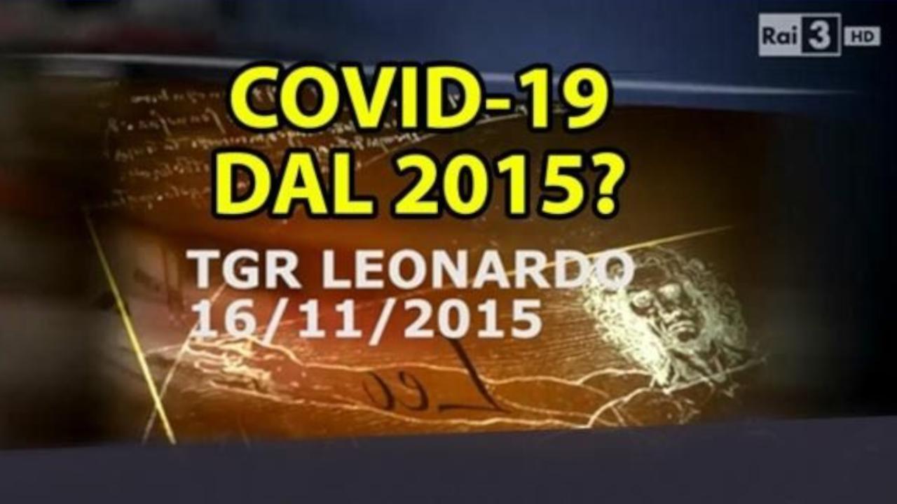 La precisazione di oggi da Tgr Rai Leonardo al servizio su coronavirus del 2015